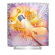 Medical Discovery Composite Shower Curtain by Design Pics Eye Traveller