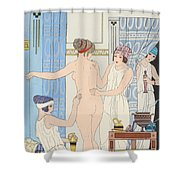 Medical Massage Shower Curtain by Joseph Kuhn-Regnier