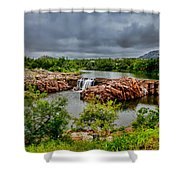 Medicine Park II Shower Curtain by Toni Hopper