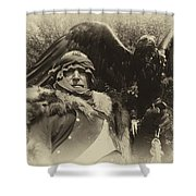 Medieval Barbarian Artur And Spirit 2 Shower Curtain