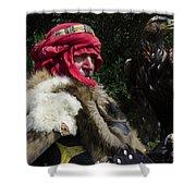 Medieval Barbarian Artur And Spirit Shower Curtain