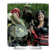Medieval Barbarian Couple Shower Curtain