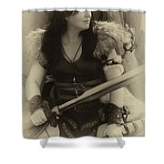 Medieval Barbarian Eriana Iceni 2 Shower Curtain