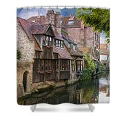 Medieval Bruges Shower Curtain by Juli Scalzi
