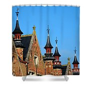 Medieval Buildings Towers And Vanes Shower Curtain