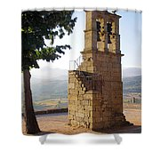 Medieval Campanile  Shower Curtain by Carlos Caetano