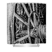 Medieval Elevator Motor Shower Curtain
