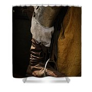Medieval Faire Boot Detail 2 Shower Curtain