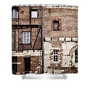 Medieval Houses In Albi France Shower Curtain
