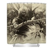 Medieval Jousting Shower Curtain
