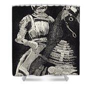 Medieval Knight On Horseback - Chevalier - Caballero - Cavaleiro - Fidalgo - Riddare -ridder -ritter Shower Curtain