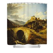 Medieval Landscape Shower Curtain