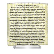 Medieval Provencal Desiderata Poster Shower Curtain