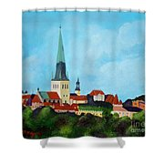 Medieval Tallinn Shower Curtain