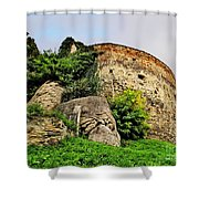 Medieval Tower Shower Curtain