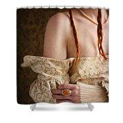 Medieval Tudor Woman Shower Curtain