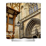 Medieval Vannes France Shower Curtain by Elena Elisseeva