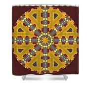 Meditating On Life - Mandala Shower Curtain