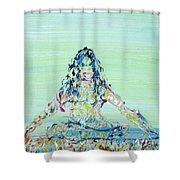 Meditation Blues Shower Curtain