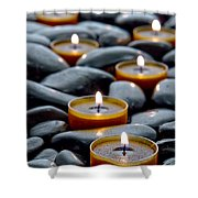 Meditation Candles Shower Curtain