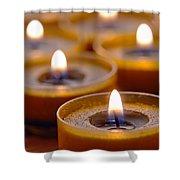Meditation Candles Path Shower Curtain