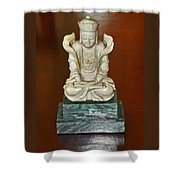 Chineses Meditation Shower Curtain