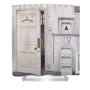 Meditation On A Door I Shower Curtain by Charles E Hardaker