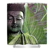 Meditation Vegetation Shower Curtain