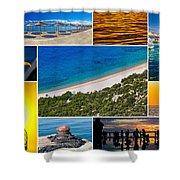 Mediterranean Coast Collage Shower Curtain
