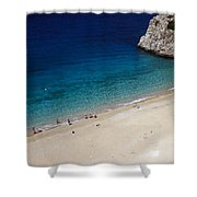 Mediterranean Coastal Scene Shower Curtain