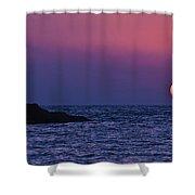 Mediterranean Sunset  Shower Curtain