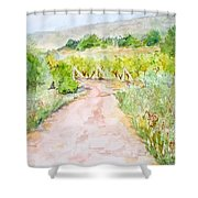 Medjugorje Path To Apparition Hill Shower Curtain