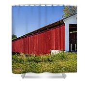 Medora Covered Bridge Shower Curtain