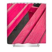 Wimberley Texas Market Red Bench Shower Curtain