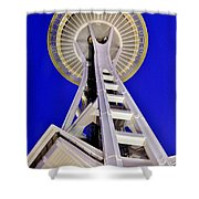 Meet Me At The Needle Shower Curtain