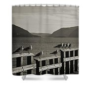 Meeting At The Waterfront Shower Curtain