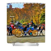 Meeting Of The Carriages Shower Curtain