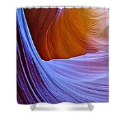 Meeting Of The Curves In Lower Antelope Canyon In Lake Powell Navajo Tribal Park-arizona  Shower Curtain