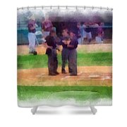 Meeting Of The Umpires Photo Art Shower Curtain
