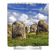 Megalithic Monuments In Brittany Shower Curtain by Elena Elisseeva