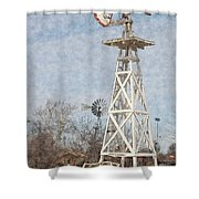 Megan's Windmill Shower Curtain