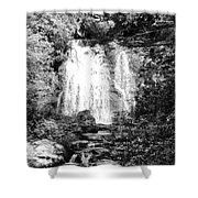 Meigs Falls Smoky Mountains Bw Shower Curtain