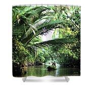 Mekong Delta Backwater 01 Shower Curtain