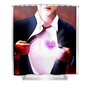 Mel Bossa's Red Awakening Book Cover Art Shower Curtain