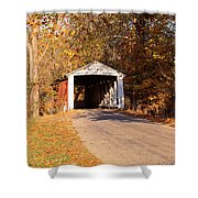 Melcher Covered Bridge Parke Co In Usa Shower Curtain