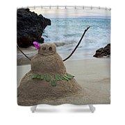 Mele Kalikimaka Merry Christmas From Paako Beach Maui Hawaii Shower Curtain