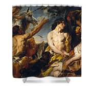 Meleager And Atalante Shower Curtain