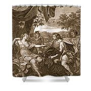Meleager Presents The Boars Head Shower Curtain