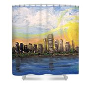 Melisa's Sunrise Shower Curtain