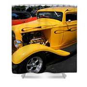 Mello Yellow Rod Shower Curtain
